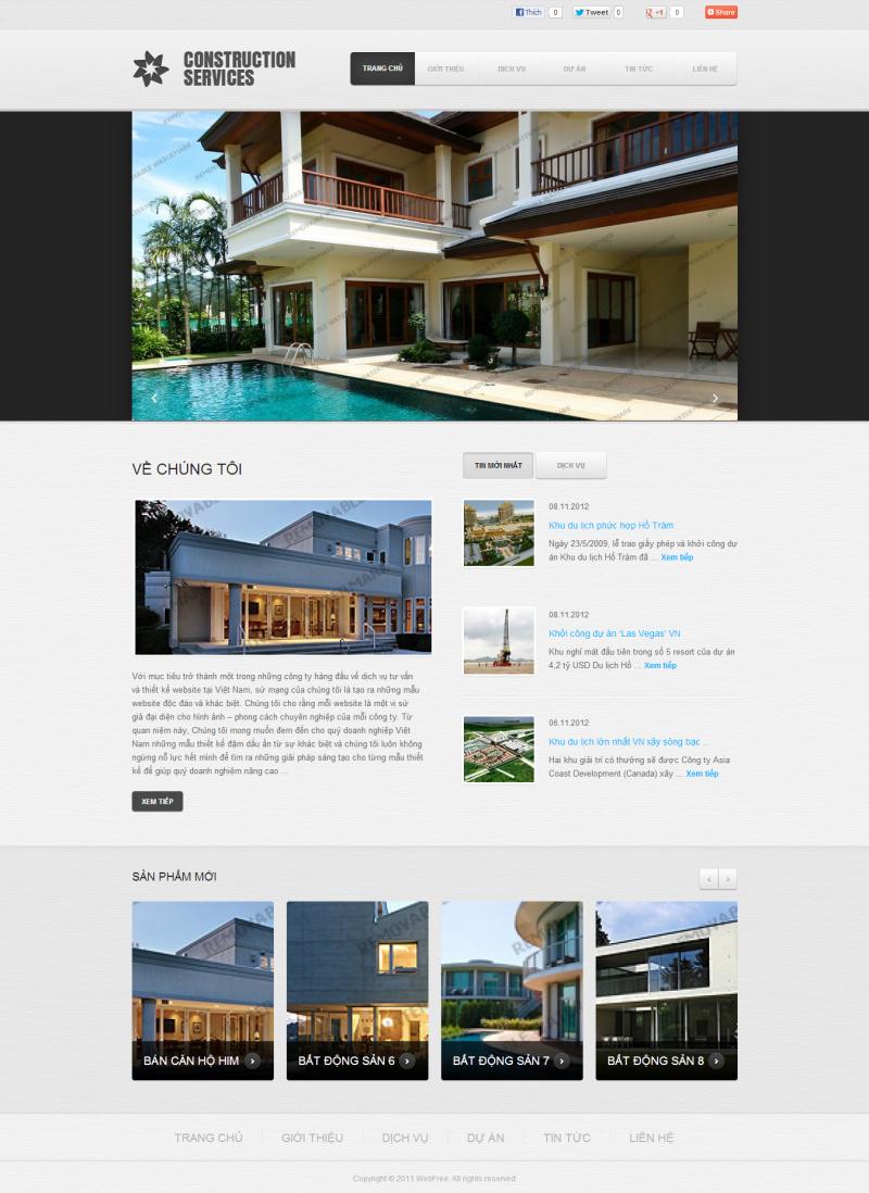website cong ty xay dung